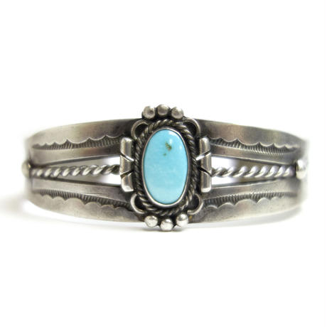 Turquoise Twisted Line Bracelet / Fred Harvey Style