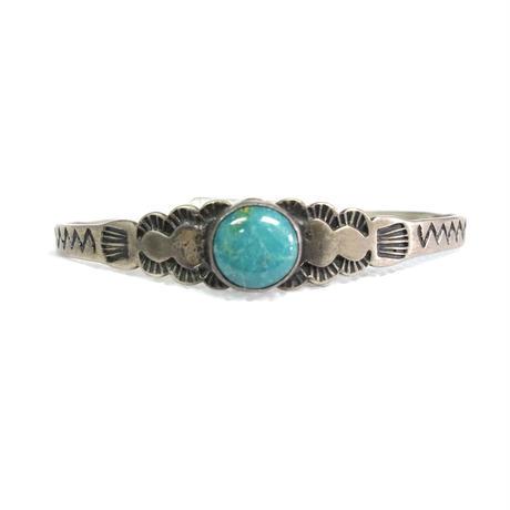 Turquoise Mountain Range Baby Bracelet / Fred Harvey Style