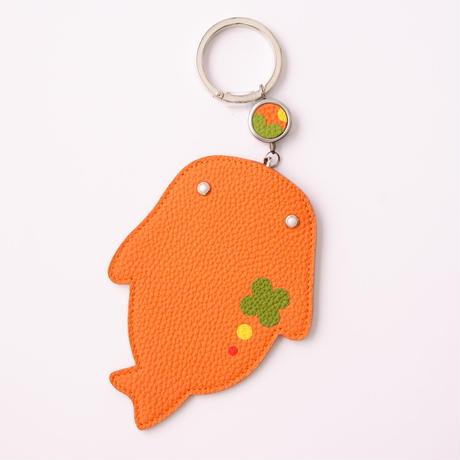 id.Passパスケース オレンジ  クローバー