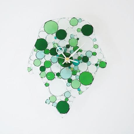id.JT エメラルドグリーン  ガラス時計