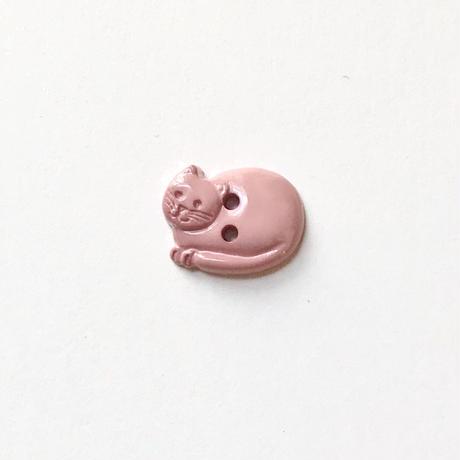 丸まったネコのボタン(JB77679 ピンク)