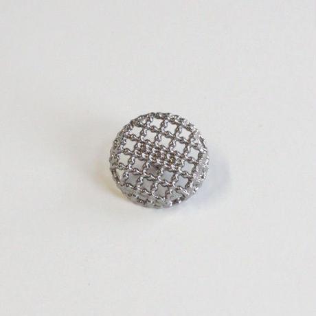 メタル透かしボタン 15mm (JB163210 シルバー)