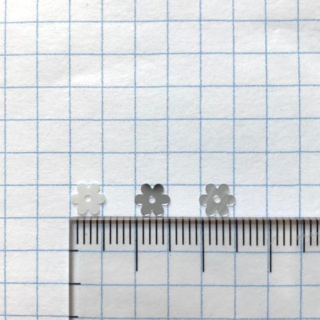 スパンコール フラワー5mm(FFS327 シルバー)【0.4gセット】
