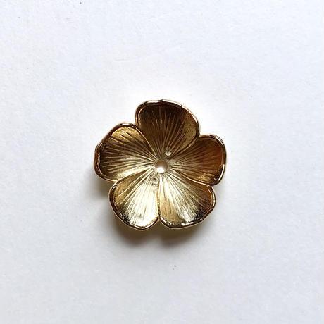 カップ型 フラワービーズ/5枚花 (FJ368 ゴールド)