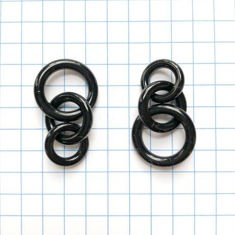 プラスティックチェーンパーツ(ブラック)【1ペア】
