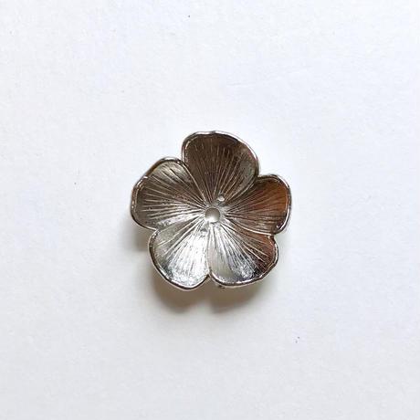カップ型 フラワービーズ/5枚花 (FJ368 シルバー)