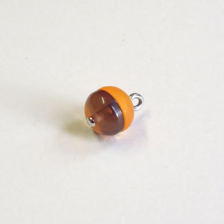 ラウンドボタン(JB545067 ブラウン×オレンジ)