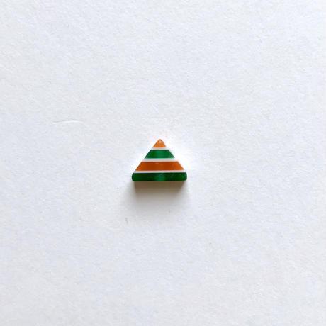 トライアングルストライプビーズ(FJ265 オレンジ×グリーン)