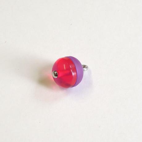 ラウンドボタン(JB545067 マゼンダ×パープル)