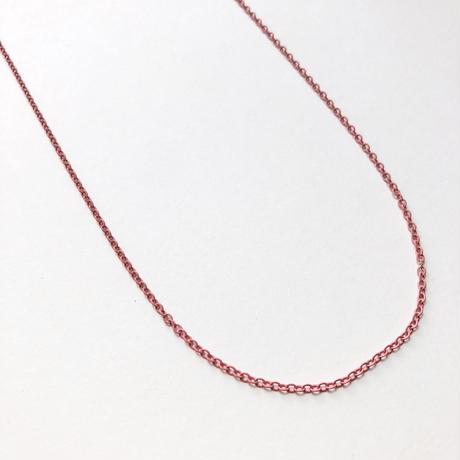 カラーアズキチェーンネックレス(ピンク)【70cm】