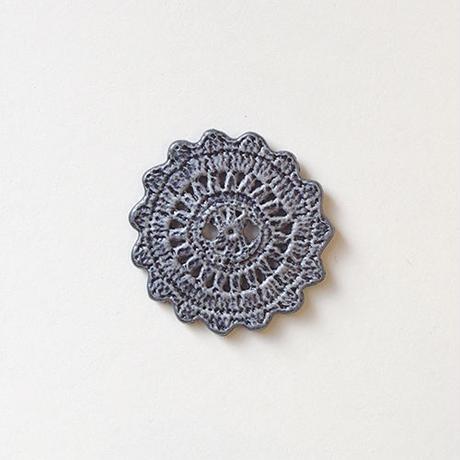 ラウンドレースボタン (JB705618 25mm グレー)
