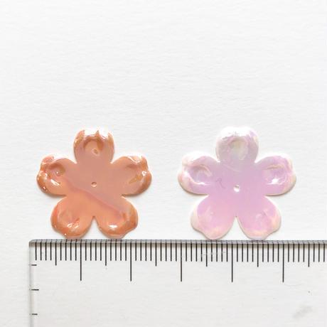 フラワースパンコール Φ23mm(FSCA245  オーロラピンク)【4枚】