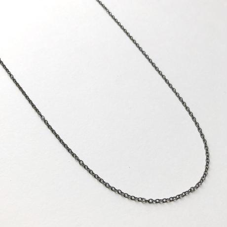 カラーアズキチェーンネックレス(グレー)【40cm】