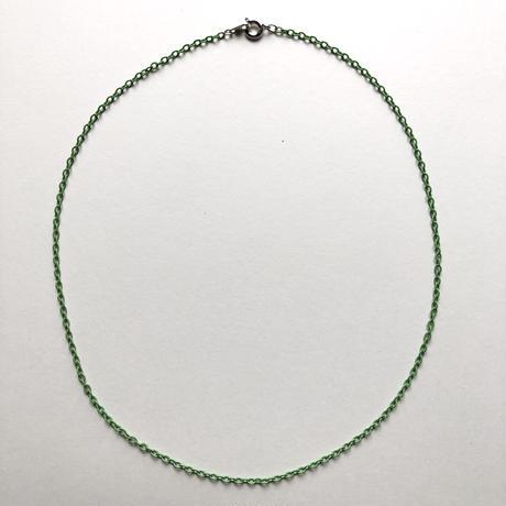カラーアズキチェーンネックレス(ライトグリーン)【40cm】