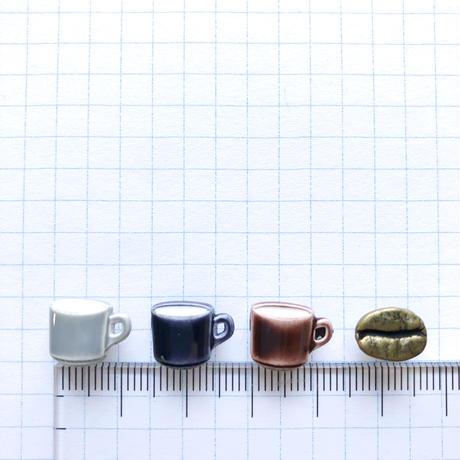 アソートボタンセット(コーヒー豆とコーヒーカップ)
