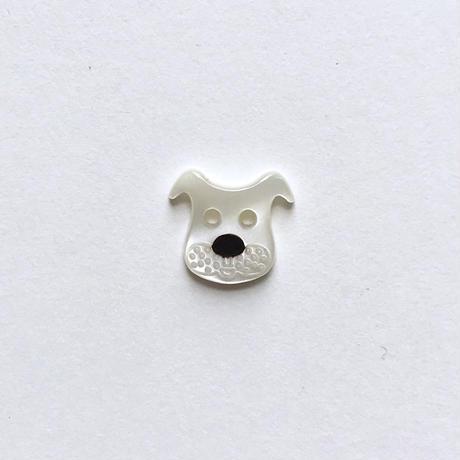 イヌのボタン(JB447036) ホワイト