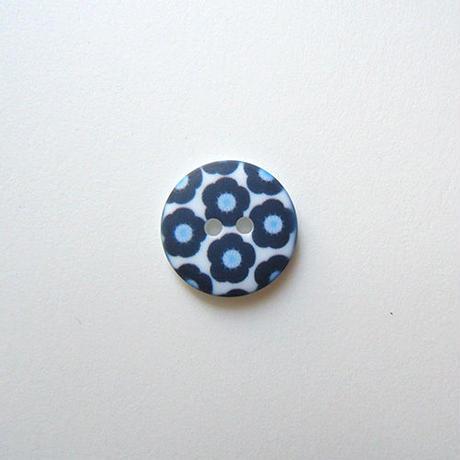 フラワープリントボタン(JB486115 18mm ネイビー)