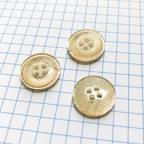 サンドウィッチボタン (Φ15mm ゴールド)