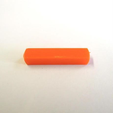 レクタングルチューブビーズ(FJ188 オレンジ) 【2個セット】