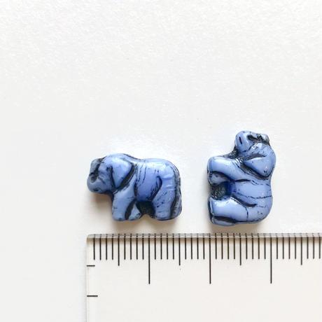 ゾウのビーズ (FJ003 ブルー)