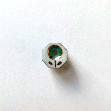 ののむらみなみ 陶器ボタン(鉄絵花・小 青)