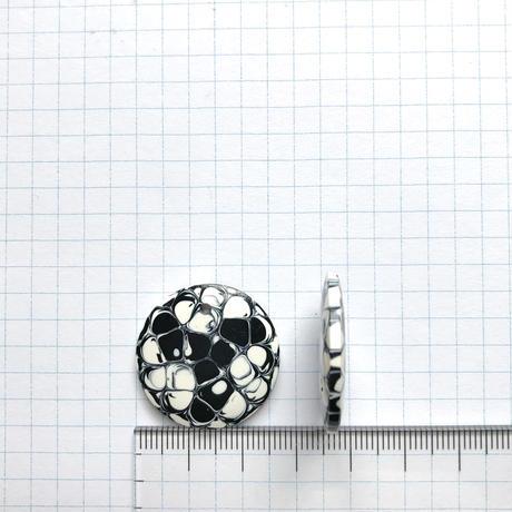ヴィンテージコインビーズ(FEP829  Φ32mm ホワイト×ブラック)