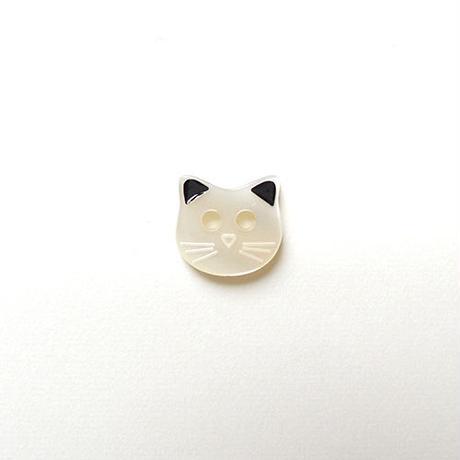 ネコのボタン(JB447026 ホワイト)