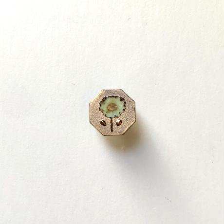 ののむらみなみ 陶器ボタン(鉄絵花・小 金)