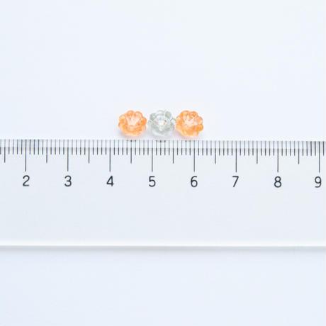 ジャパンヴィンテージ・ビーズパック(JVB346 グレー・オレンジ)【各4gセット】