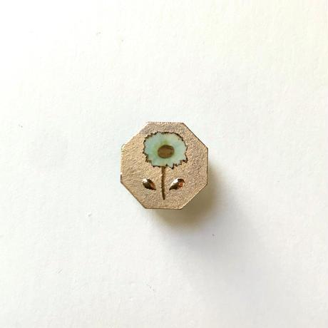 ののむらみなみ 陶器ボタン(鉄絵花・大 金)