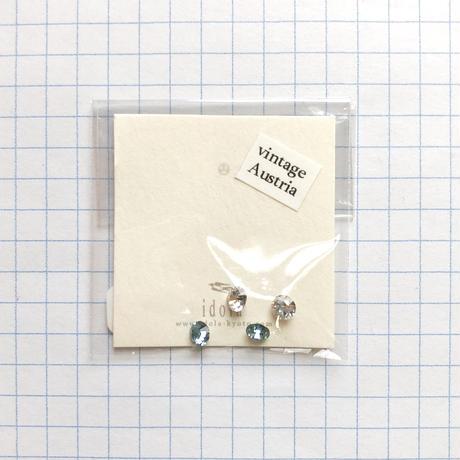 ヴィンテージラインストーン Φ4mm(クリスタル・アクアマリン)【各色2個セット】