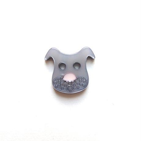 イヌのボタン(JB447036) グレー