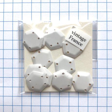 ヘキサゴンスパンコール 12mm×12mm(coha010 マットホワイト)【12枚】