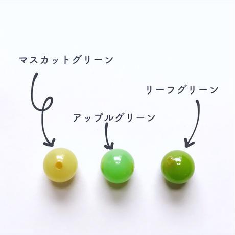 ラウンドビーズ(FJV429  アップルグリーン)【2個セット】