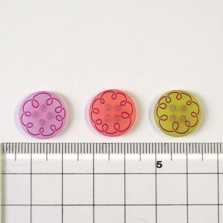 カーリーライン4つ穴ボタン (JB794019 /15mm ピンク)