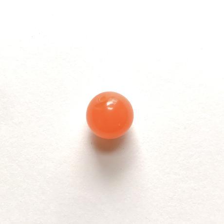 ラウンドビーズ(FJV429  オレンジ)【2個セット】