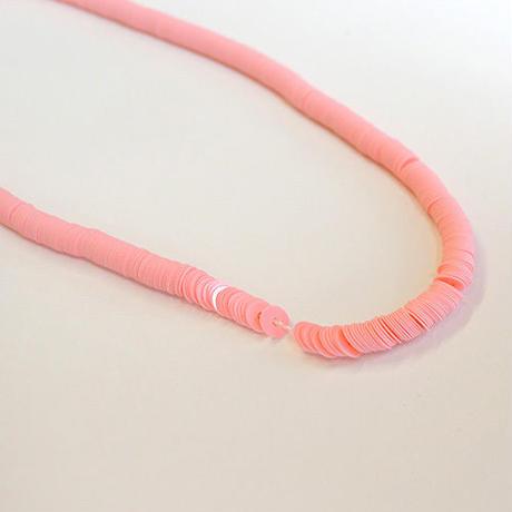 糸通しスパンコール 3mm フラット(MFP1501P302 ピンク)【1本】