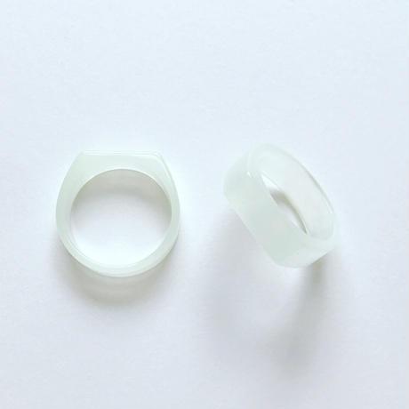 貼り付けプラリングパーツ(13号 ホワイト)【2個セット】
