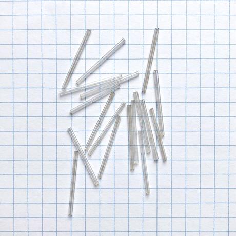 ヴィンテージフランス 竹(チューブ)ビーズパック(No.43 クリア)    【18本入り】
