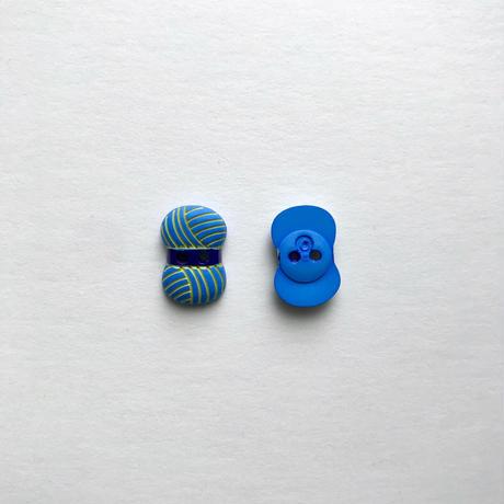 毛糸ボタン(JB767184  ライトブルー×ネイビー)
