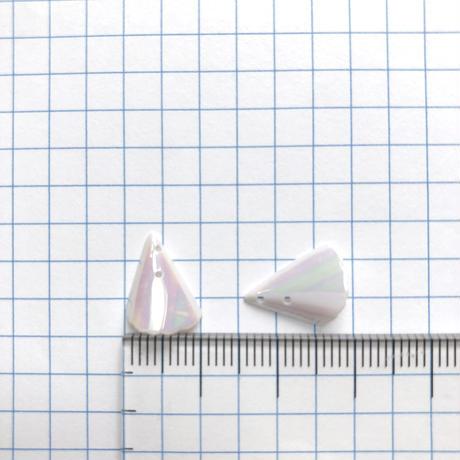 フリルコーンスパンコール 13mm×10mm(FSCA360  オーロラホワイト)【8枚】