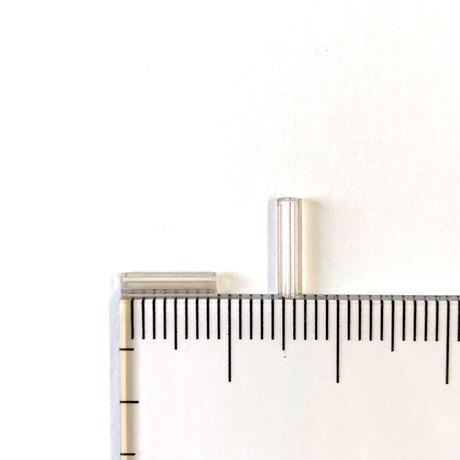 ヴィンテージフランス 竹(チューブ)ビーズパック(No.28 オーロラクリア)    【1.5g入り】