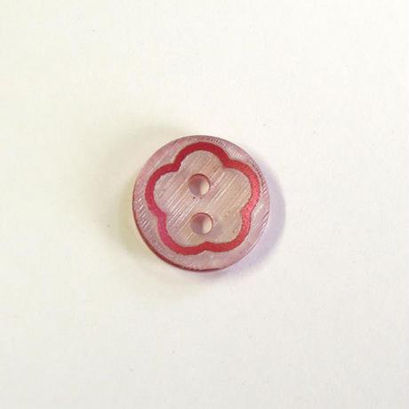 フラワーライン 2つ穴ボタン (JB489112  Φ12mm ワイン)