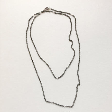 カラーアズキチェーンネックレス(グレー)【70cm】