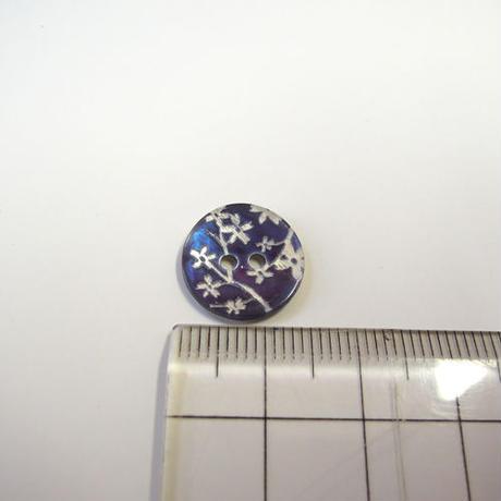 花柄シェルボタン 14mm(JB109197 ネイビー)