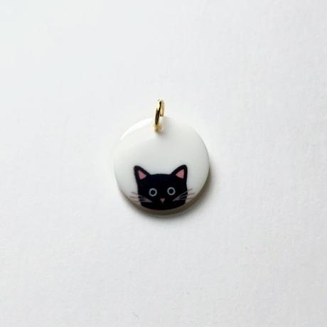 ひょっこりネコのトップ  (JB486133 ホワイト×ブラック)