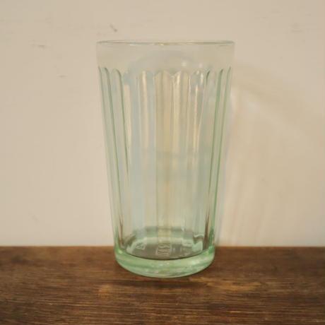 【古道具265】古い ガラス  アンカーコップ  緑