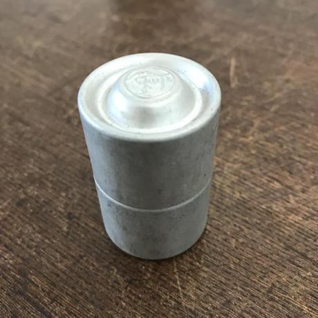 【古道具186】  昔のアルミのフィルムケース6個おまとめ