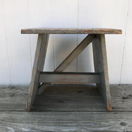 【古道具113】古い 木製 踏み台 アンティークレトロ
