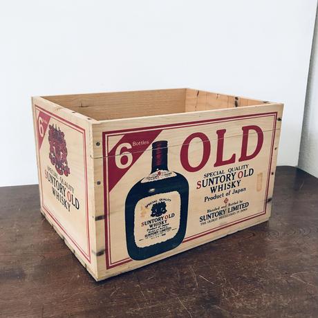 【古道具157】  サントリー オールド 6  木箱  SUNTORY OLD WHISKY